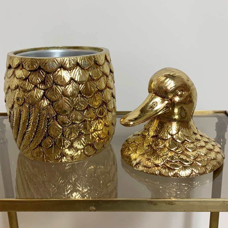 Gold Mauro Manetti Duck Ice Bucket, 1960'S-lct-home-img-4523-main-637275736057734398.jpg