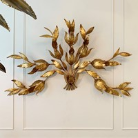 Monumental Hans Kogl Leaf Wall Sconce, 1970S