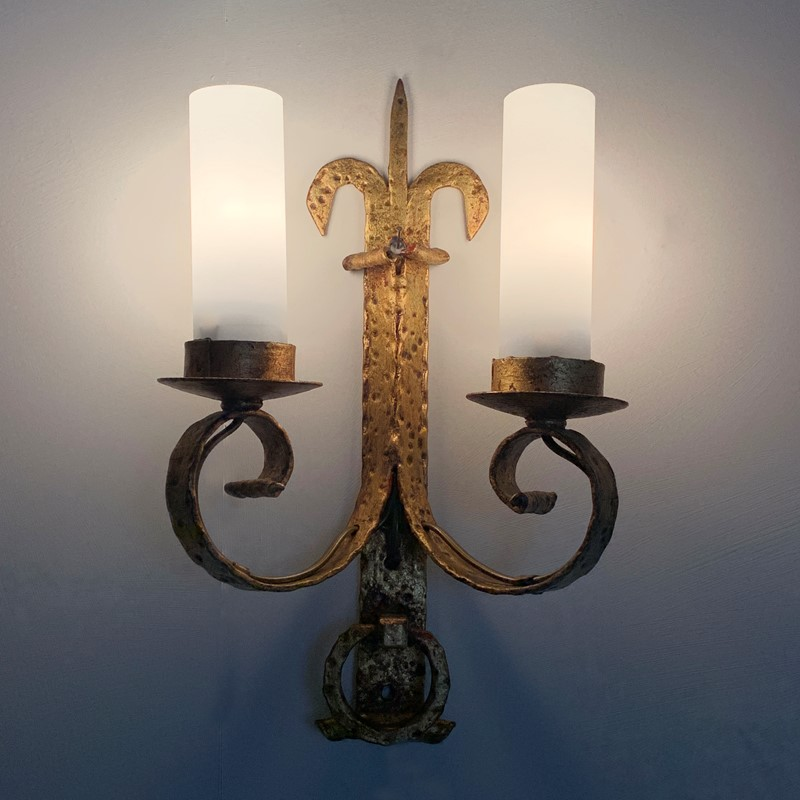 1930's Spanish Gilt Hand Forged Wall Sconce's-lct-home-img-7074-main-637339646253679207.jpg