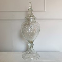 19th Century Large Cut Crystal Drinks Dispenser