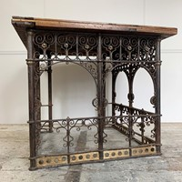18th C Forged Wrought Iron Church Pulpit Table
