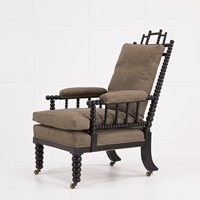English Regency Ebonsied Bobbin Armchair