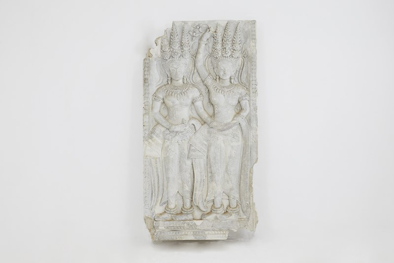 A Plaster Cast Panel of a Cambodian Angkor Wat Tem-lee-wright-antiques-a-plaster-cast-panel-of-a-cambodian-angkor-wat-temple-carving-235-main-636899783034040034.JPG
