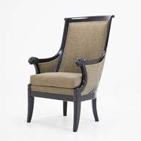 19th Century French Ebonised Armchair
