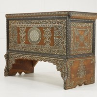 Grand Scale 19th Century Syrian Wedding Chest