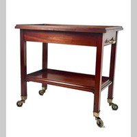 Edwardian mahogany Gueridon or serving trolley