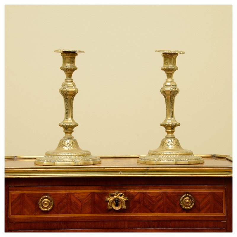 A pair of French Régence style ormolu candlesticks-leslie-baggott-c10047-10-main-636992180991685089.jpg
