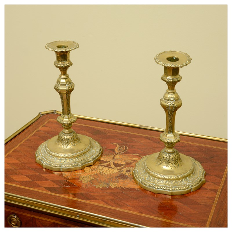 A pair of French Régence style ormolu candlesticks-leslie-baggott-c10047-9-main-636992180830591922.jpg