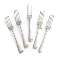 5 Old English silver dinner forks