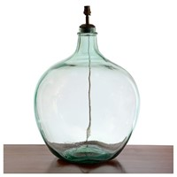 A Very Large Balloon Glass Bottle Lamp