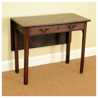 Mahogany single leaf side table