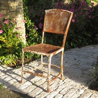 French antique wrought iron chair
