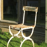 Decorative French antique iron chair