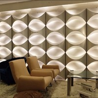 Wall lighting Panels -Repurposed Building Cladding