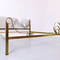 Mid Century Brass Bed by Luciano Frigerio