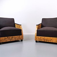 Pair of Art Deco Club Chair
