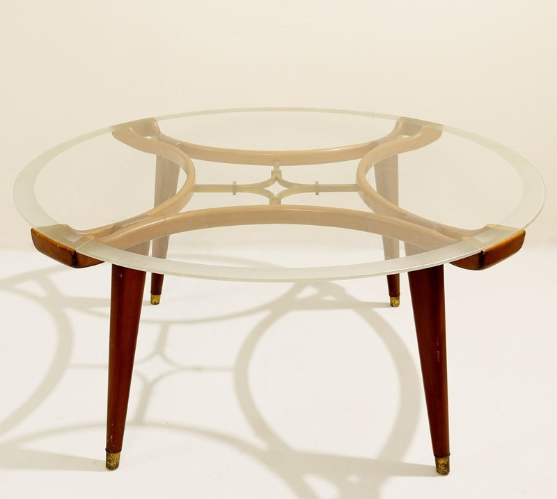 1940's Walnut and Brass Coffee Table -living-in-style-gallery-wood-brass-coffee-table-circular-glass-top-2225472-en-max-main-637403020328284011.jpg