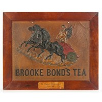 Framed Victorian Brooke Bond Tea Advertising Card