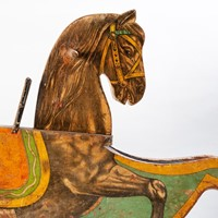 Charming, Late Victorian Child's Toy Rocking Horse