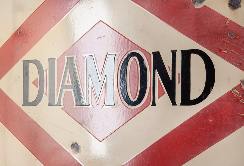 A large, Diamond Gasoline / Motoroil Enamel Sign-ljw-antiques-0913-glossy-main-637180827331685873.jpg