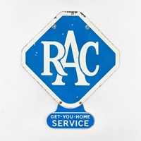 Fantastic double-sided rac enamel sign