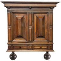 18th century Dutch oak Renaissance cabinet