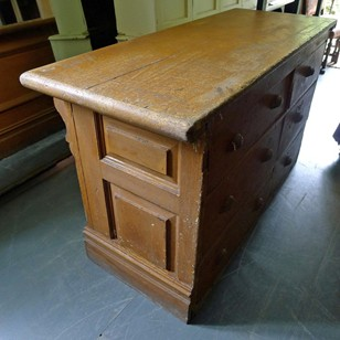 Six drawer Victorian shop counter