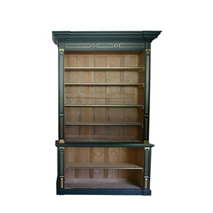 Large Georgian painted and parcel gilt bookcase.