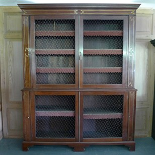 Regency Mahogany Library Bookcase