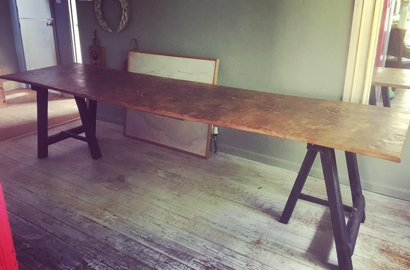 Burr elm trestle table. Farmhouse table-loran-co-b26b6391-f676-429a-b762-5a94e3980a1d-main-636925678389514910.jpeg