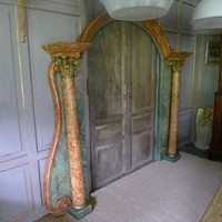 Italian faux marble doorway/mirror