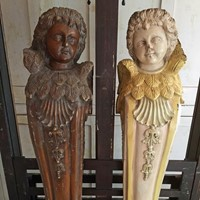 Pair of beautifully carved angel corbels.