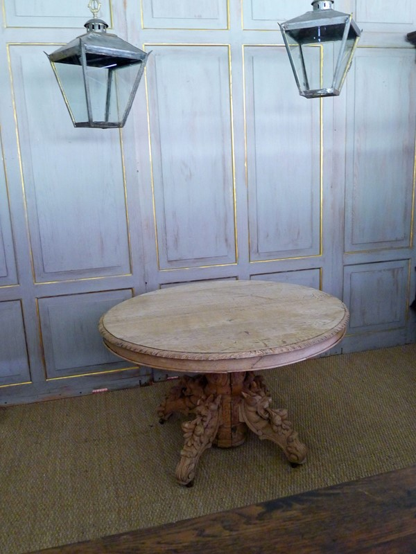 19th Century raw oak centre table.-loran-co-oak-centre-2-main-637294797688525288.jpg