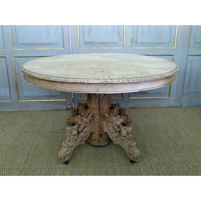 19th Century raw oak centre table.-loran-co-oak-centre-main-637294797170403219.jpg
