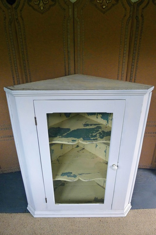 Large 19th Century glazed painted corner cabinet.-loran-co-painted-corner-1-main-637055653003860607.jpg