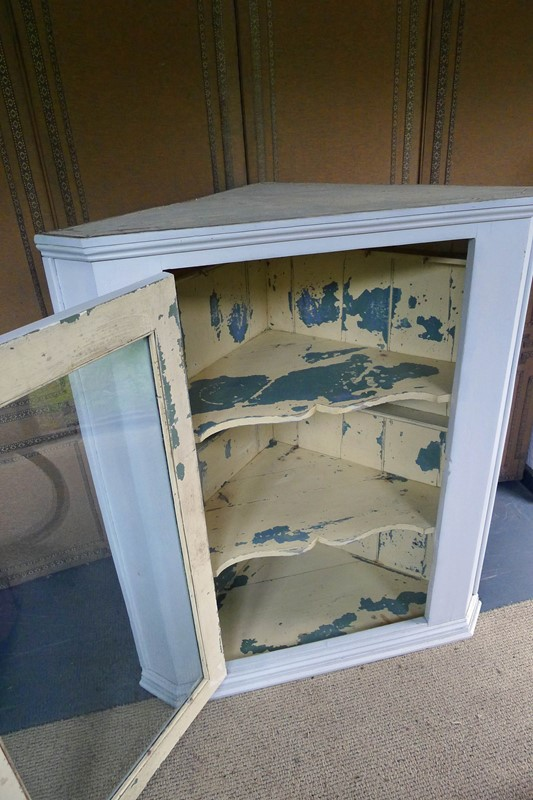Large 19th Century glazed painted corner cabinet.-loran-co-painted-corner-main-637055653691785391.jpg