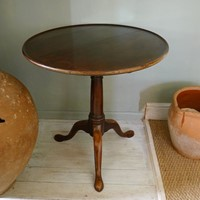 Rich mahogany George III tea table.