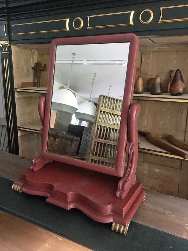 19thC. painted and gilded toilet dressing mirror-loran-co-toilet-mirror-main-637067731224604008.jpg