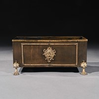 19th Century French Brass And Copper Table Planter