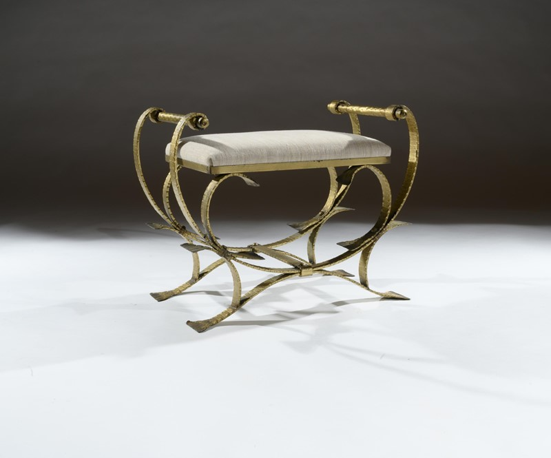 Mid 20th C Spanish Gilt Metal And Linen Stools-loveday-1-28-large-main-637375993982666242.jpg