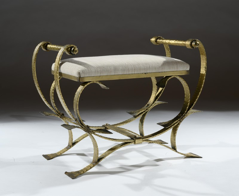 Mid 20th C Spanish Gilt Metal And Linen Stools-loveday-1-29-large-main-637375993899653612.jpg