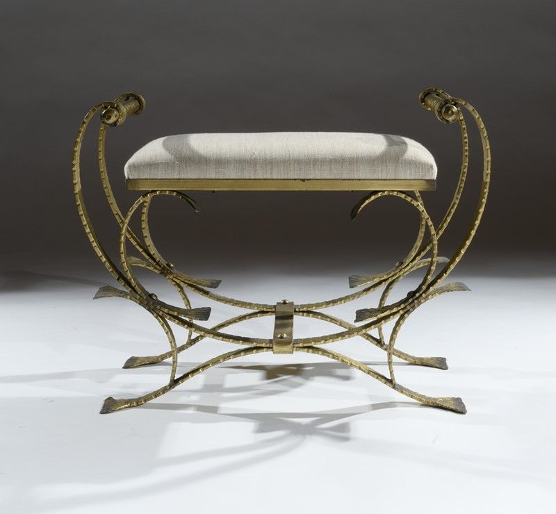 Mid 20th C Spanish Gilt Metal And Linen Stools-loveday-1-32-large-main-637375993835431935.jpg