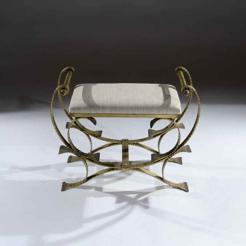 Mid 20th C Spanish Gilt Metal And Linen Stools-loveday-1-33-large-main-637375994423945645.jpg