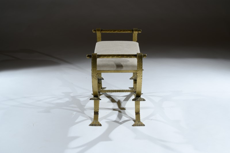 Mid 20th C Spanish Gilt Metal And Linen Stools-loveday-1-34-large-main-637375993799678671.jpg