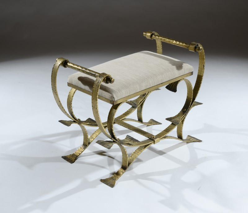 Mid 20th C Spanish Gilt Metal And Linen Stools-loveday-1-35-large-main-637375994353965423.jpg
