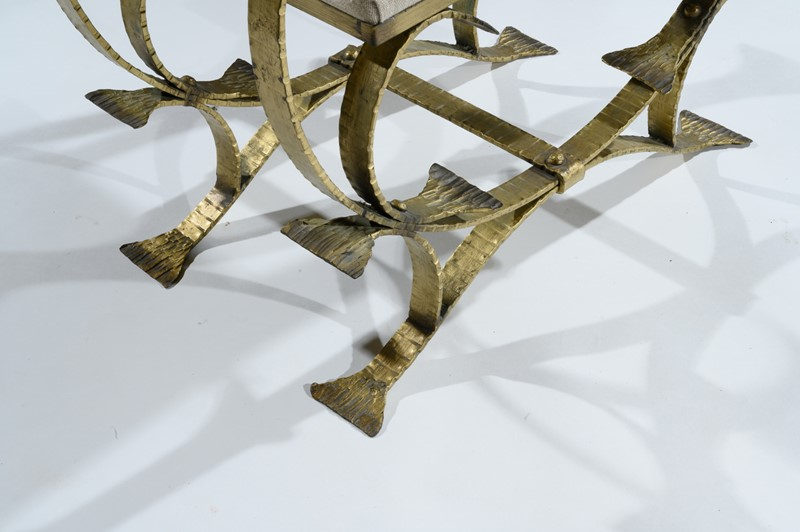 Mid 20th C Spanish Gilt Metal And Linen Stools-loveday-1-36-large-main-637375994106763577.jpg