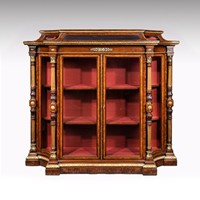 Exhibition Quality Mid-19th C Burr Walnut Cabinet