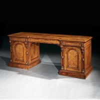Exceptional Pollard Oak Mid-19th Century Sideboard