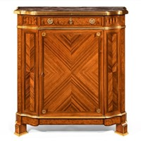Gilt Bronze-Mounted Kingwood Side Cabinet Soubrier