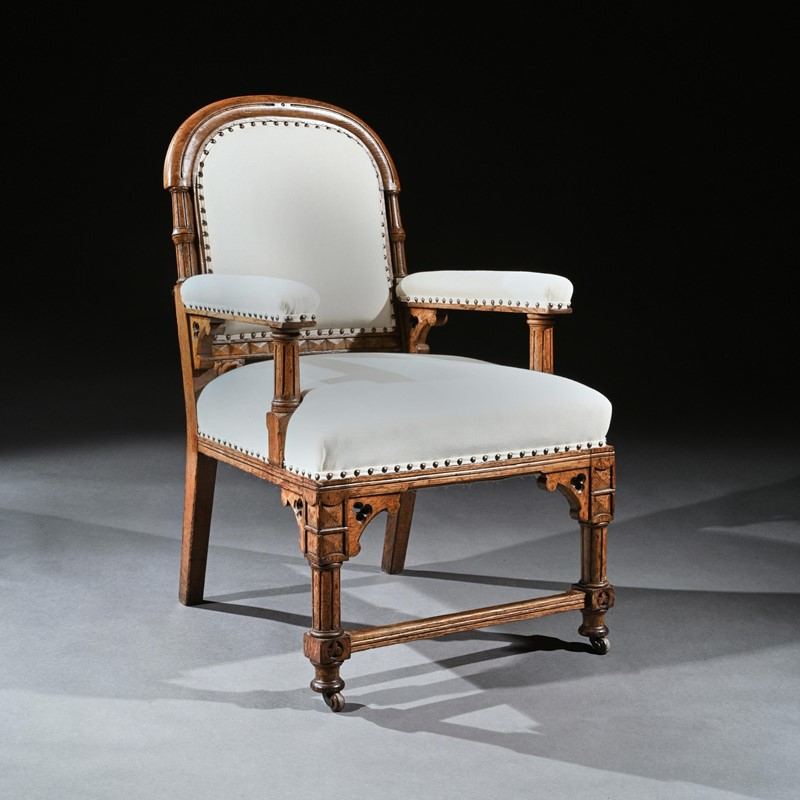 19th C Oak Gothic Armchair, G Tilley Of Birmingham-loveday-square01-large-main-637393162596258976.jpg